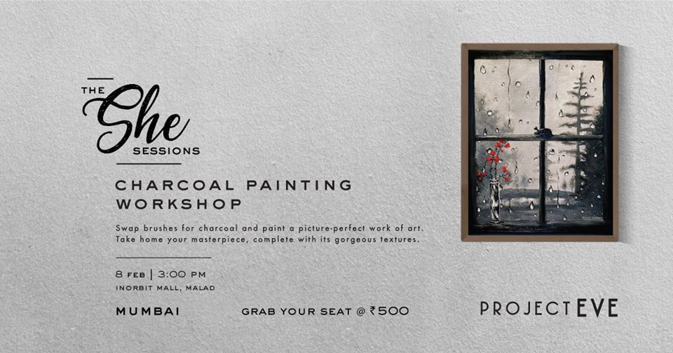 Charcoal Painting , mumbai workshop