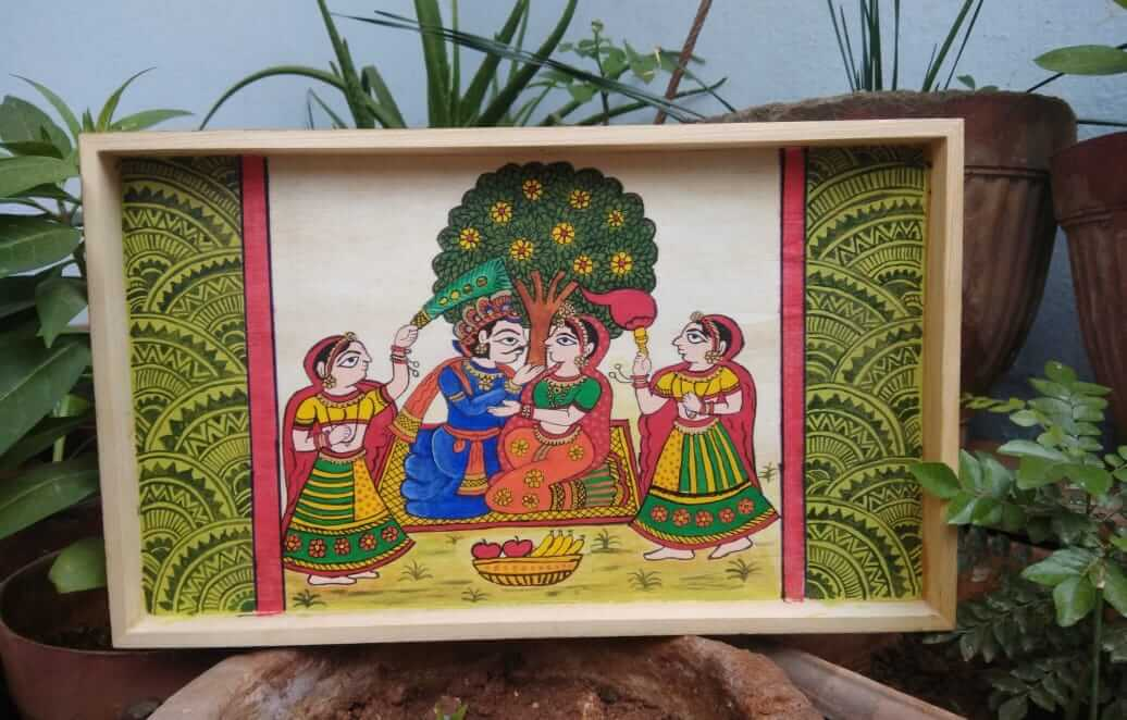 Rajasthan Phad Painting on Tray – Beginner workshop in Bangalore