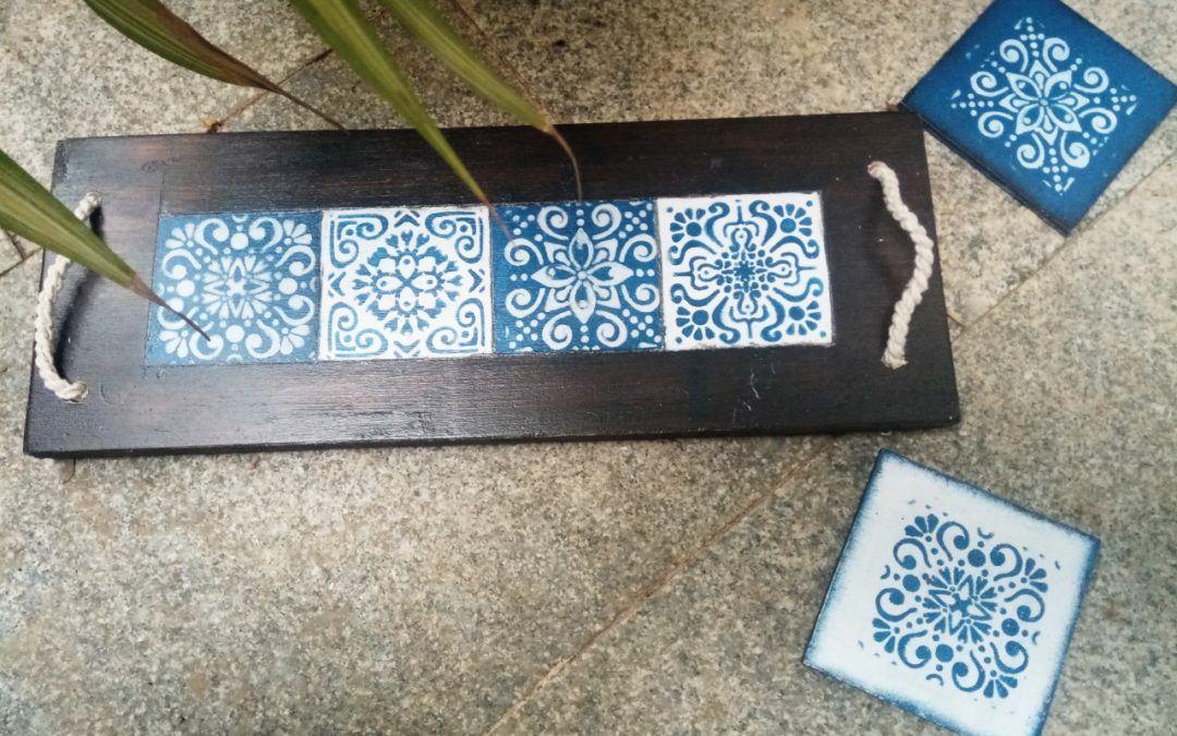 DIY Mini table runner with faux tiles- Beginner workshop in Bangalore