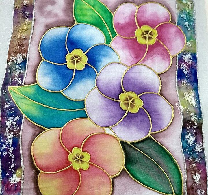 Silk Painting on Fabric -Beginner workshop in Bangalore