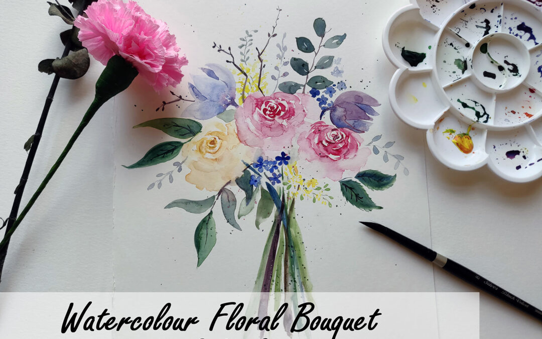 Watercolour Florals – Bouquet / Wreath – Beginners' workshop in Bangalore