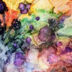 alcohol ink painting, summer art workshop
