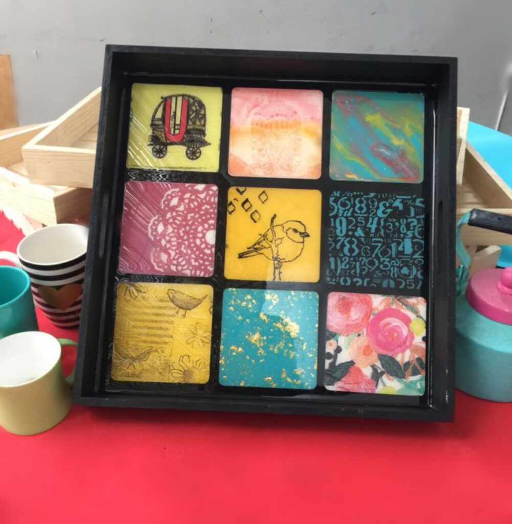 Bohemian Style tray- Beginners workshop in Bangalore