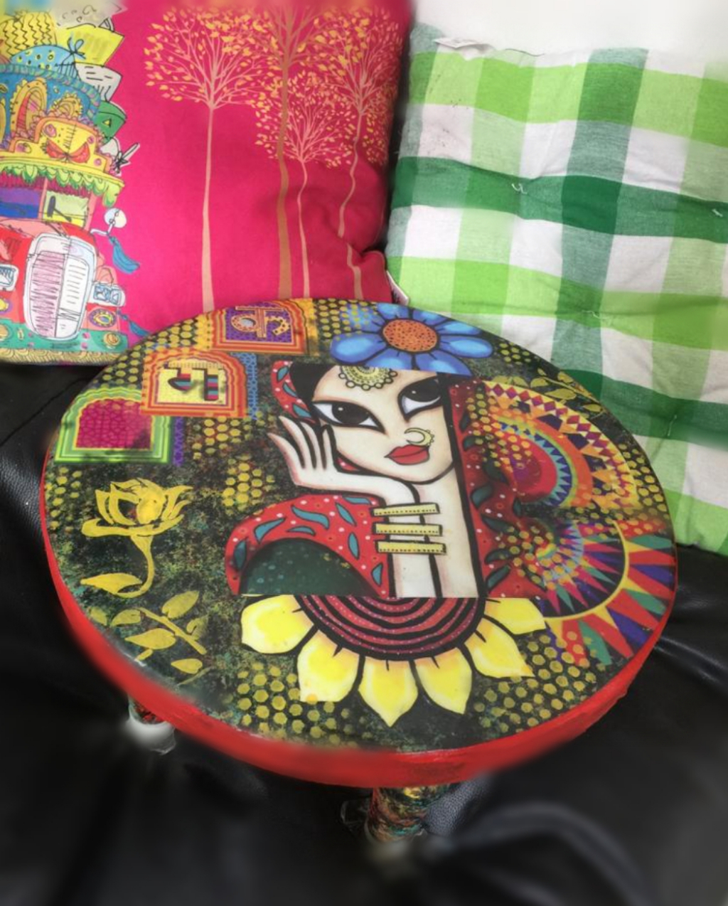 Quirky Decoupage Stool- Beginners workshop in Bangalore