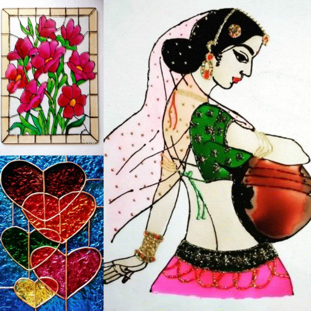 Glass Painting workshop - Beginner workshop in Bangalore