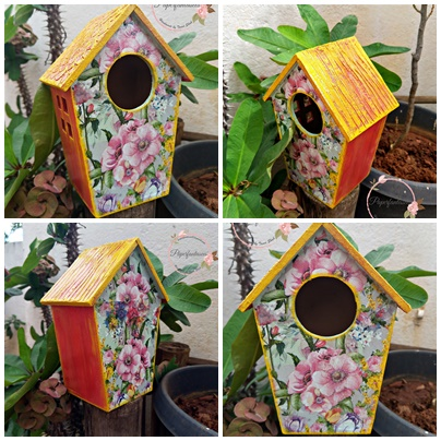 Decoupage a Birdhouse – Beginners workshop in Bangalore