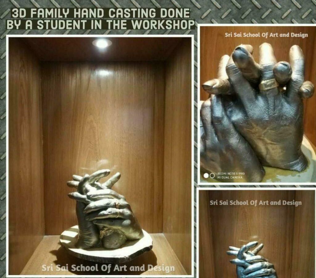3D Life-casting workshop - Beginners workshop in Bangalore