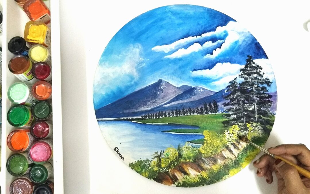 Landscapes with Acrylic – Beginners workshop in Bangalore