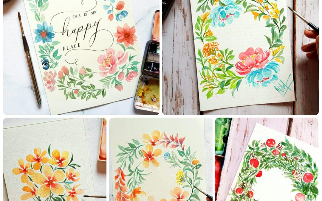 Watercolor florals – Two days online session