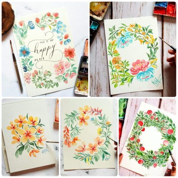 Watercolor florals - Two days online session