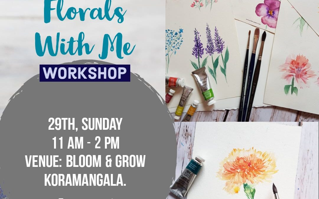 Watercolor florals – Beginners workshop in Bangalore