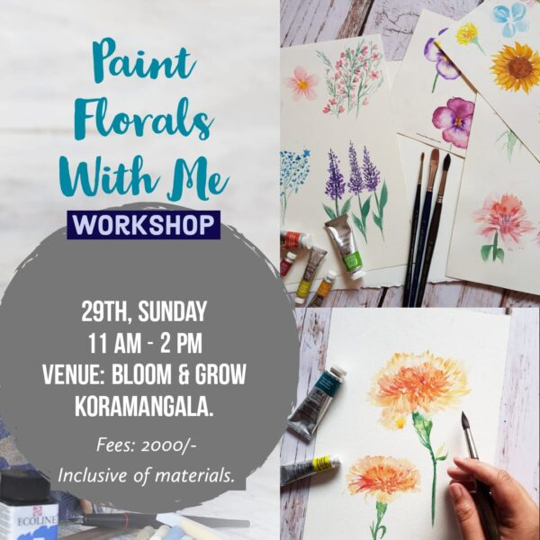 Watercolor florals - Beginners workshop in Bangalore