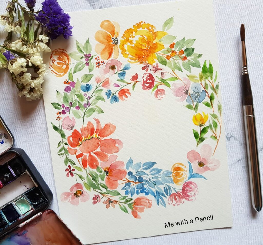 Watercolor florals & leaves- Beginners workshop in Bangalore