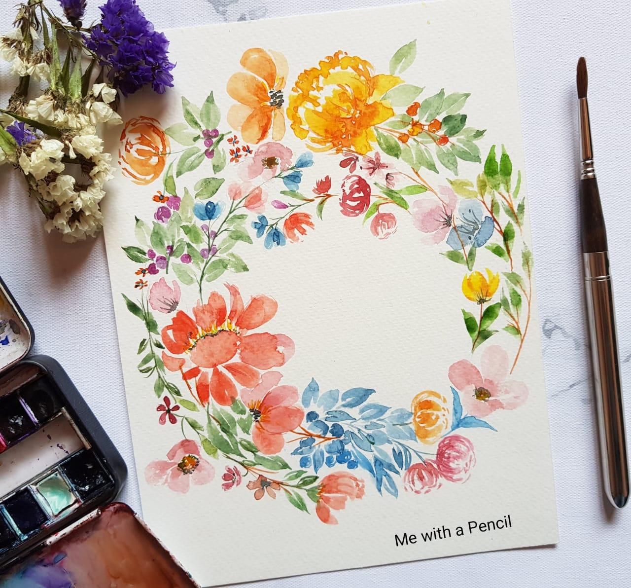 Watercolor florals & leaves- Beginners workshop in Bangalore