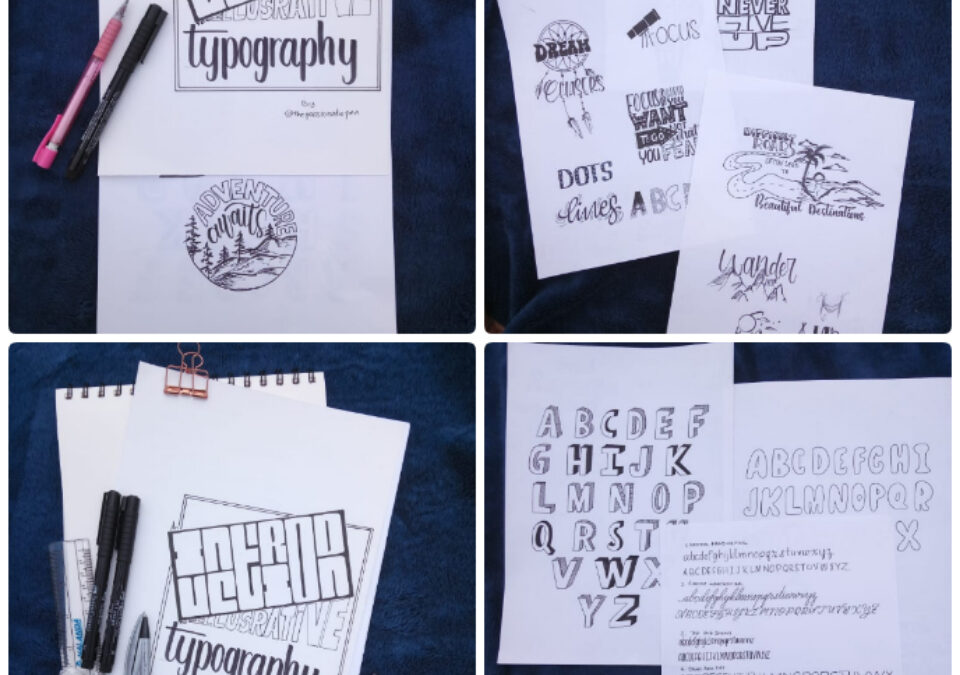 Illustrative typography workshop for beginners
