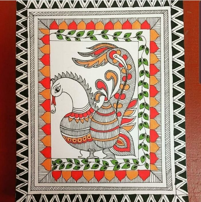 Madubani Indian Traditional Art workshop in Bangalore