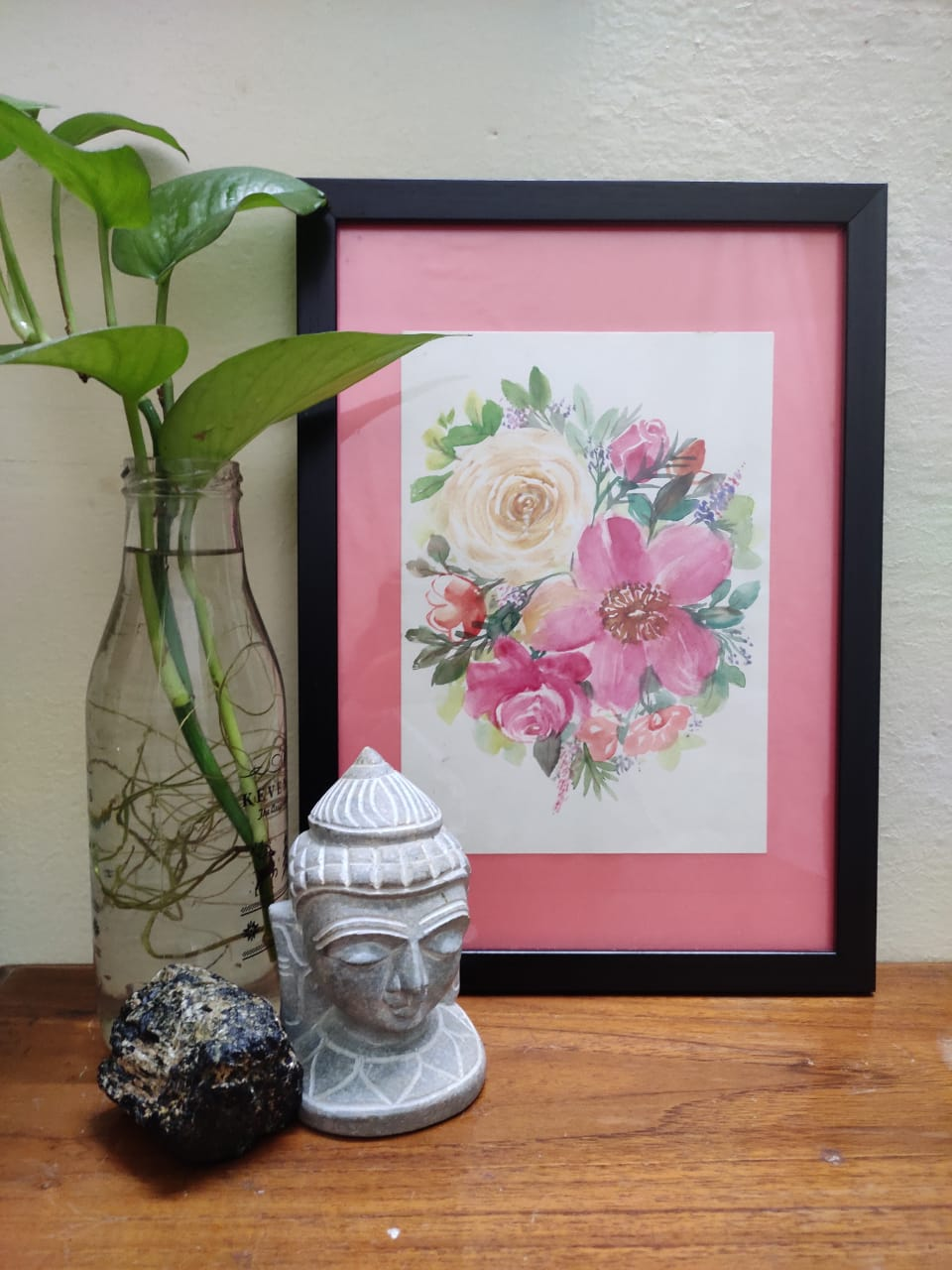 Watercolor floral wall art workshop for Beginners in Bangalore