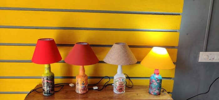 Decoupaged Bottle Lamp Making - Online Beginners' Workshop