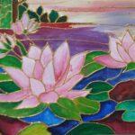 Mural - Placid lake painting - Beginners' workshop in Bangalore