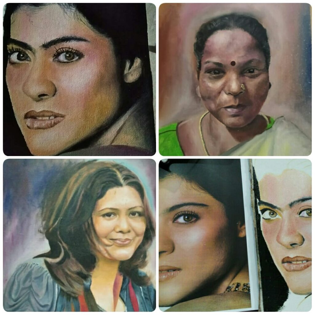 Oil Portrait Painting Workshop for Beginners in Bangalore