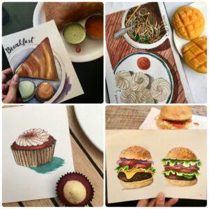 Food Illustration/Sketching - Online Session