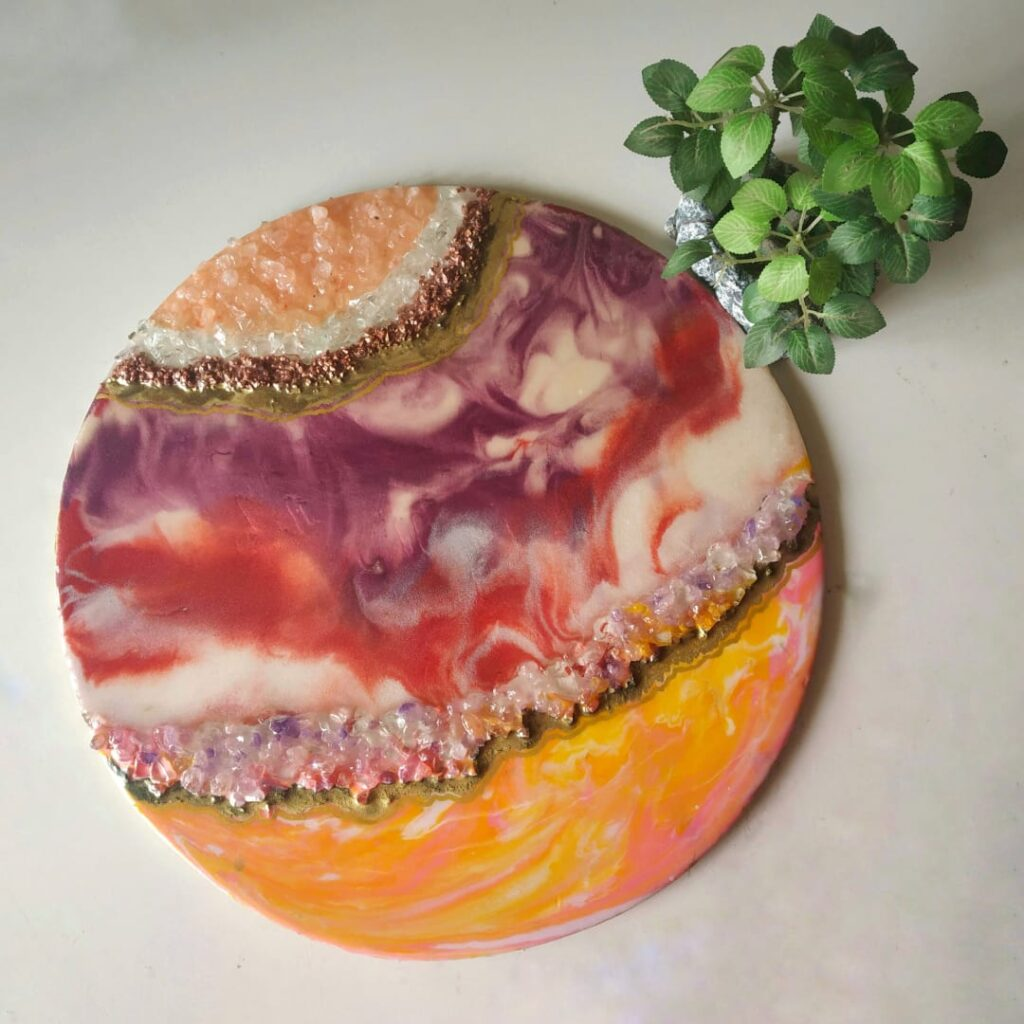Resin Art demo and geode making- Online session