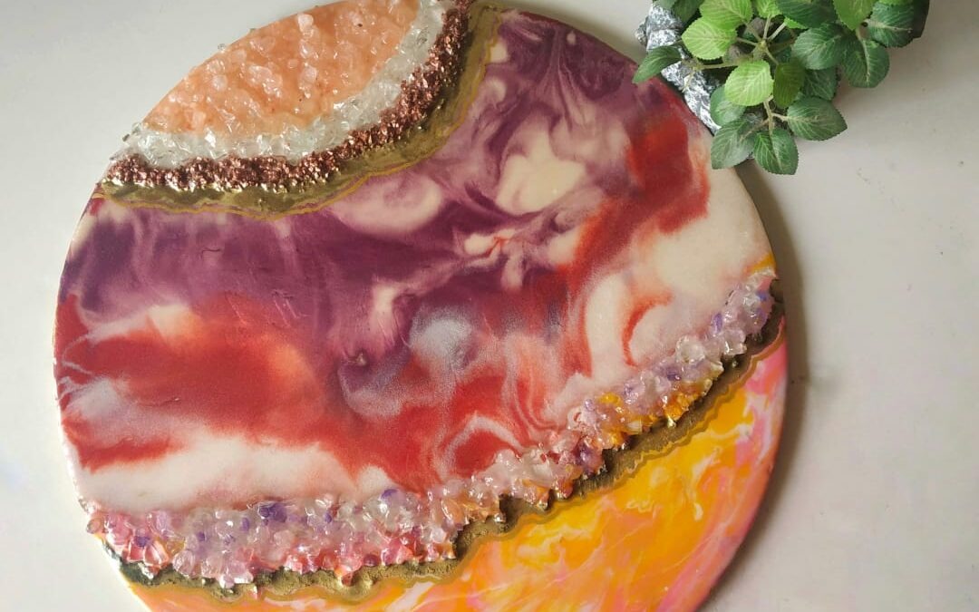 Resin art demo and Geode making with Sonali Rao – Online session