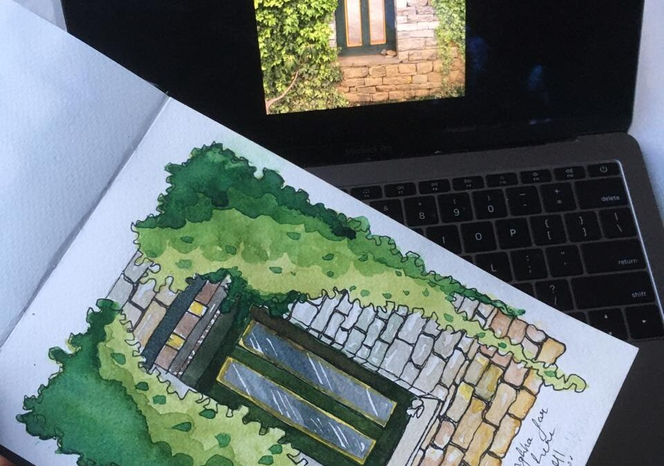 Travel Sketching in Watercolours – Two Day Online Workshop