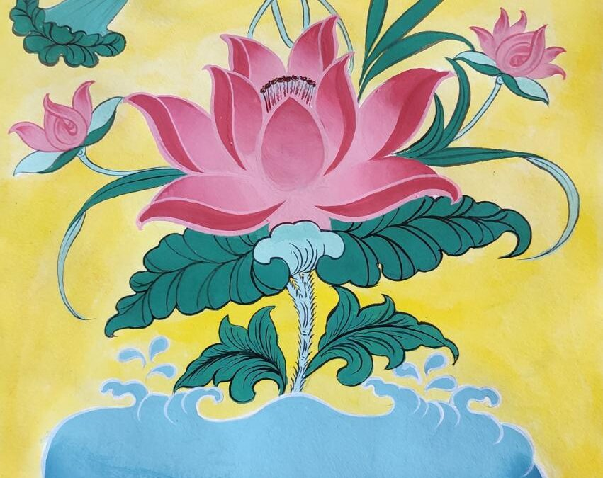 Thangka Painting (Lotus) – Online Workshop
