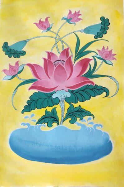 Thangka Painting (Lotus) - Online Workshop